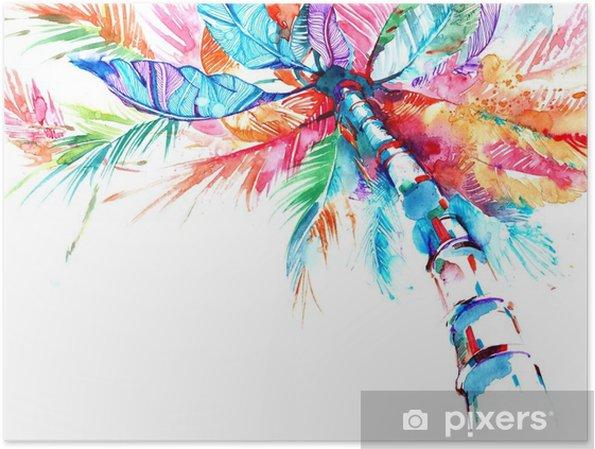Poster Palm - Bloemen en Planten