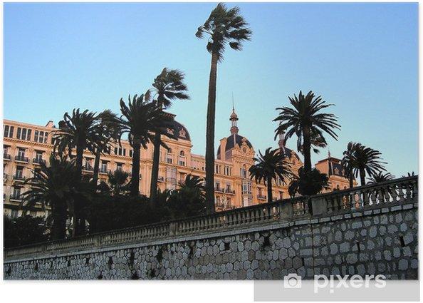 Poster Palmiers à nice - Vacances