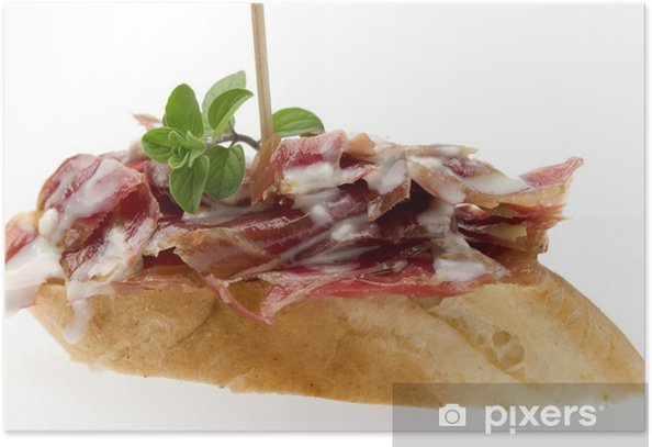 pan con jamon Poster - Meals