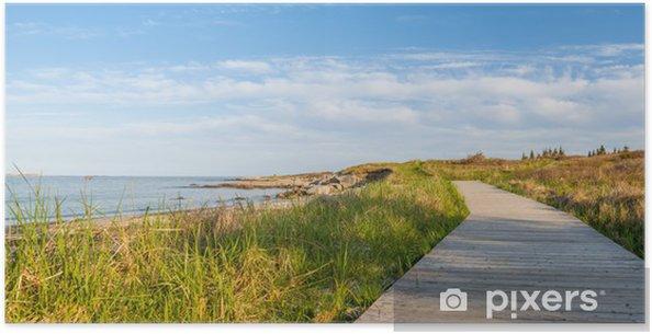 Poster Panorama de chemin en bois à la plage - Thèmes