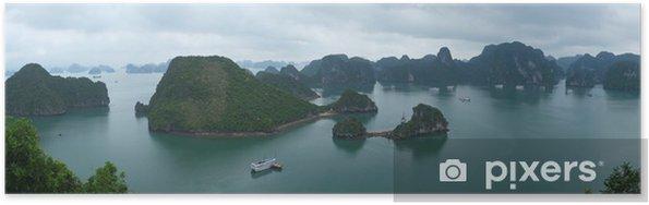 Poster Panorama de la baie d'Halong - Asie
