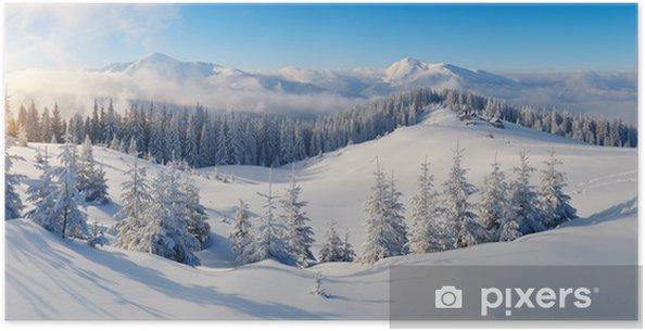 Poster Panorama de montagne en hiver - Thèmes