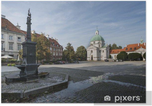 Poster Panorama de New Town Square à Varsovie, Poalnd - Villes européennes