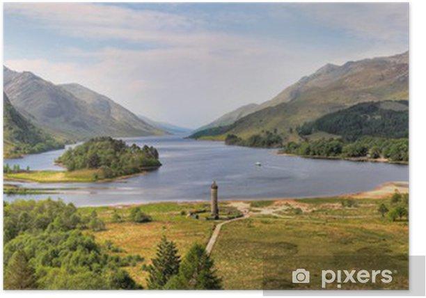 Póster Panorama del monumento de Glenfinnan y Loch Shiel, Escocia - Temas