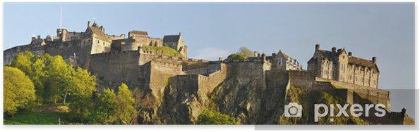 Poster Panorama du château d'Edimbourg, en Ecosse - Thèmes