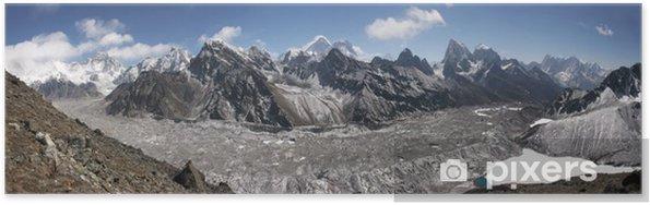 Póster Panorama Himalaya, Gokyo lago, Cho Oyu, Chomolungma, el monte. Everest - Temas