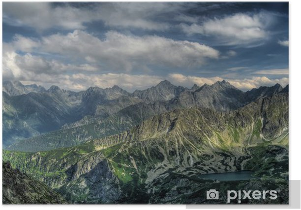 Panorama of mountains. Eagle Path. Poster - Themes