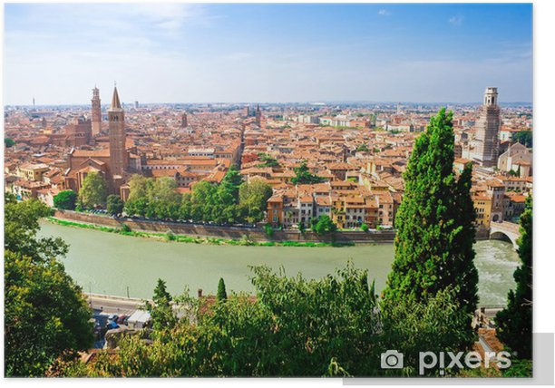 Panorama of Verona Poster - Europe