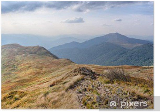 Poster Panorama sur les Carpates montagnes - Panoramique