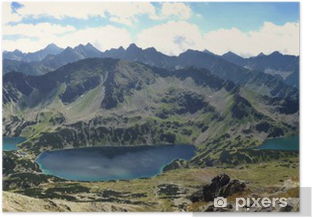Panorama Tatr Dolina Pięciu Stawów Poster - Themes