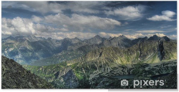 Poster Panorama van de bergen. Eagle Path. - Thema's