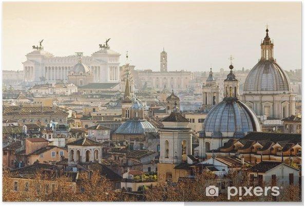 Poster Panorama van de oude stad in Rome, Italië - Reizen
