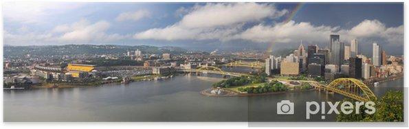 Poster Panorama van de stad van Pittsburgh - Amerika