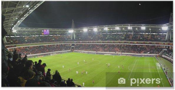 Poster Panorama van voetbalstadion - Team sport