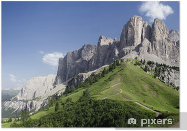 Panoramica sulle Dolomiti Poster - Themes