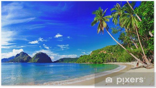 Poster Panoramique paysage magnifique plage - El-Nido, Palawan - Thèmes