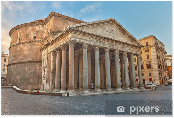 Poster Pantheon i Rom, Italien - Teman