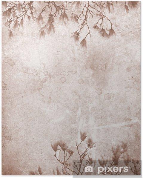 Póster Papel Magnolia vendimia - Temas