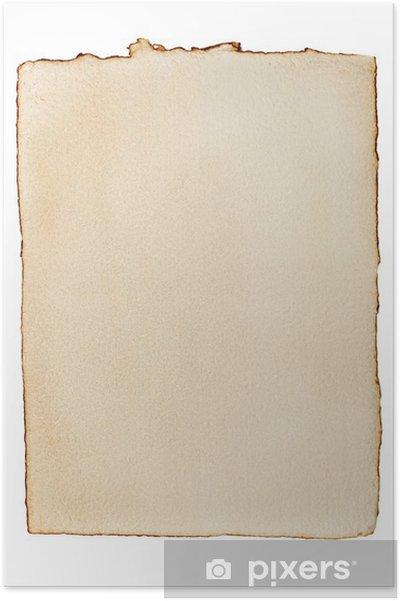 Póster Papel viejo amarilleado - Texturas