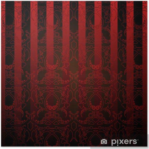 Poster Papier Peint Rouge Et Noir