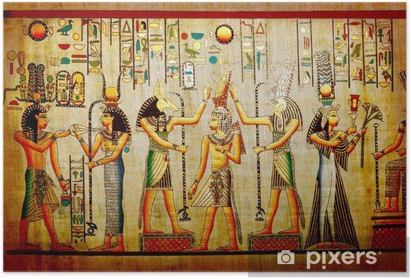 Poster Papyrus. Gamla naturlig papper från Egypten - iStaging