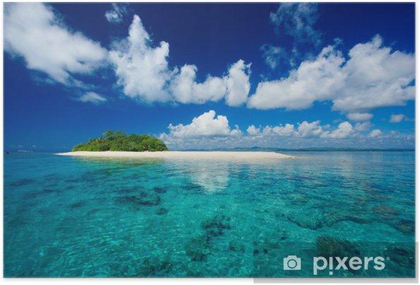 Poster Paradis tropical vacances île - Palmiers