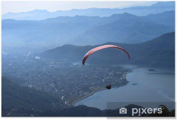 Poster Parapente au Népal, un sport d'aventure - Sports extrêmes