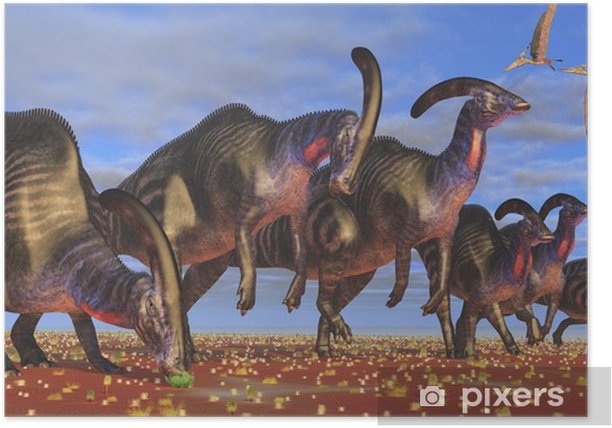 Poster Parasaurolophus Herd - Thèmes