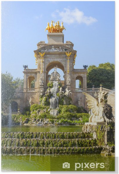 Poster Parc de la Ciutadella à Barcelone - Thèmes