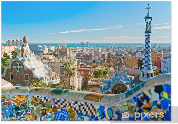 Poster Parc Guell A Barcelone En Espagne Pixers Nous Vivons Pour Changer