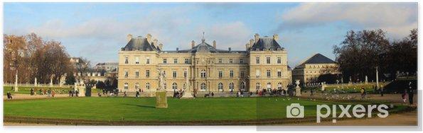 Poster Parc jardin du Luxembourg à Paris. vue d'ensemble - Villes européennes