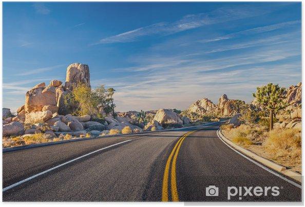 Póster Parque Nacional Joshua Tree - Desiertos
