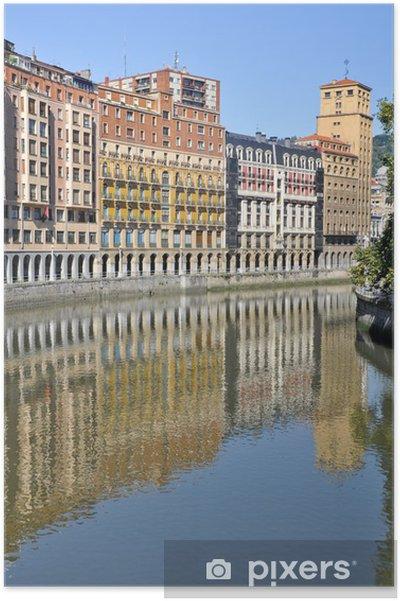 Poster Passage à travers la rivière Nervion Bilbao (Pays Basque) - Europe