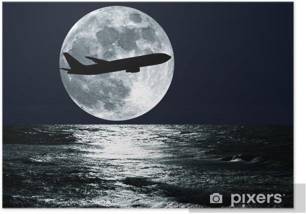 passenger airplane Poster - Themes