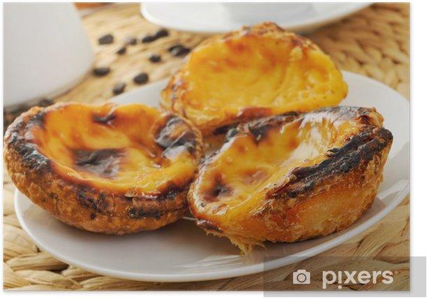 Poster Pâte de crème, pâtisseries typiques portugais de tarte aux œufs - Desserts et friandises