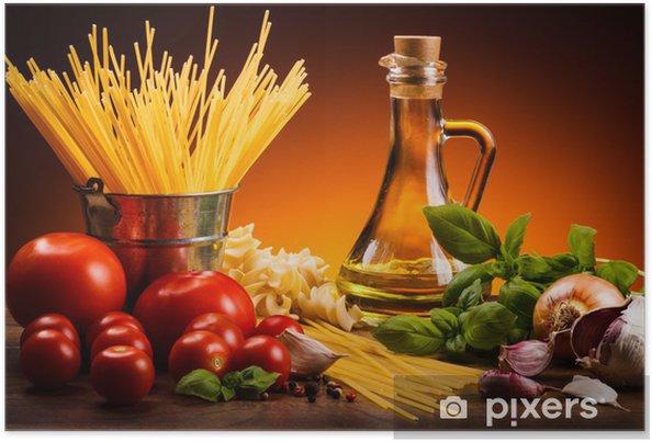 Poster Pâtes et légumes frais - Thèmes