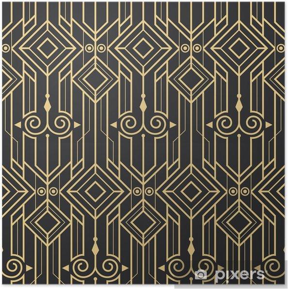 Póster Patrón abstracto moderno art deco abstracto - Recursos gráficos