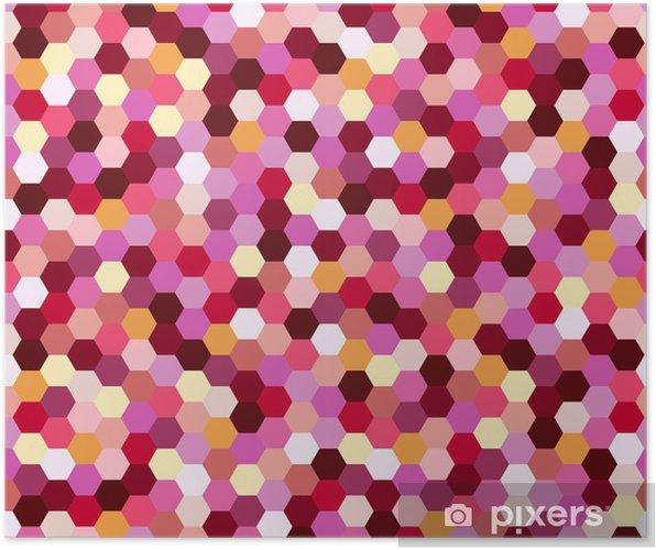 Póster Patrón de manchas rosadas colorido sin fisuras - Moda