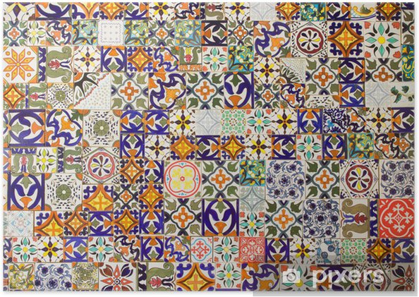 Póster Patrones de baldosas cerámicas - Azulejos