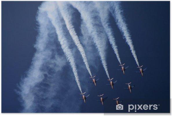 Poster Patrouilleren Frankrijk - Lucht