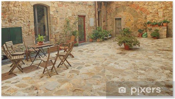 Poster Pavee Terrasse Rustique En Toscane Italie Europe Pixers