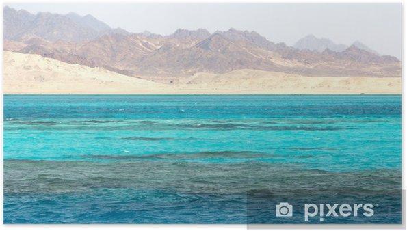 Poster Paysage de la mer Rouge en Egypte - Afrique