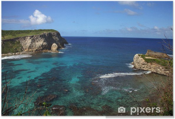 Poster PAYSAGE GUADELOUPE - Vacances