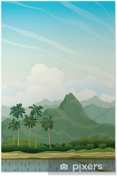 Poster Paysage tropicale - Ciel