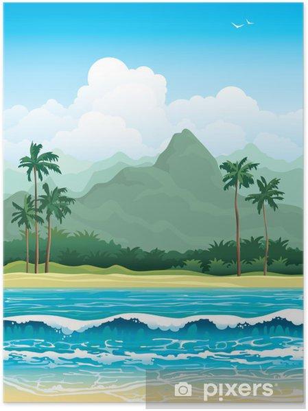 Poster Paysage tropicale - Saisons