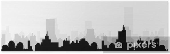 Poster Paysage urbain skyline-vectorielle - Paysages urbains