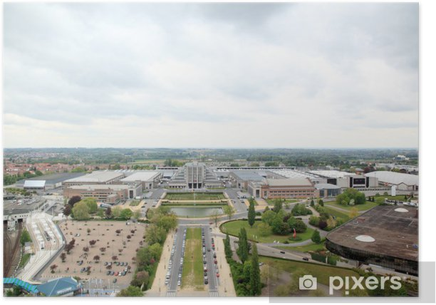 Poster Paysage urbain Vue aérienne de Bruxelles - Europe