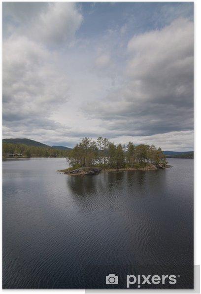 Poster Paysages de la Norvège, Lacs. - Thèmes