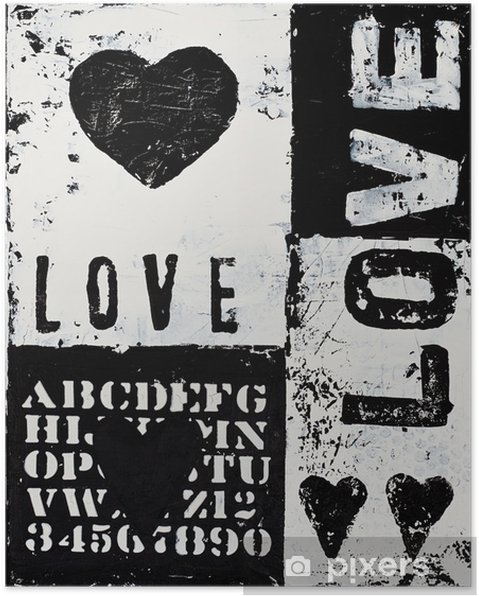 Poster Peindre avec coeur - Thèmes