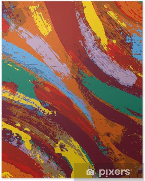 Poster Peinture abstraite fond - Arrière plans
